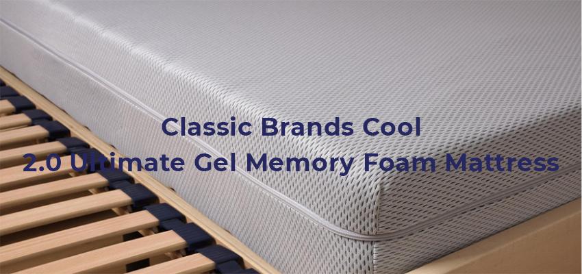 Classic Brands Cool 2.0 Ultimate Gel Memory Foam Mattress
