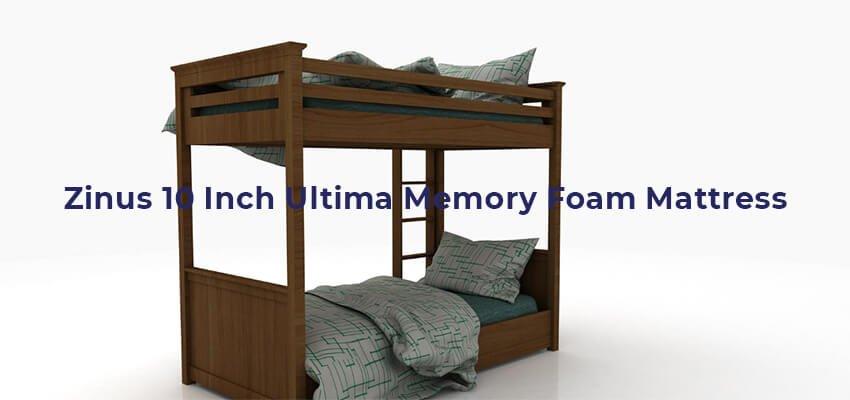 Zinus 10 Inch Ultima Memory Foam Mattress