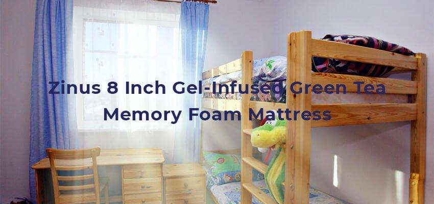 Zinus 8 Inch Gel-Infused Green Tea Memory Foam Mattress
