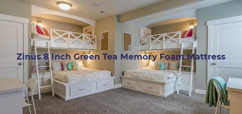 Zinus 8 Inch Green Tea Memory Foam Mattress