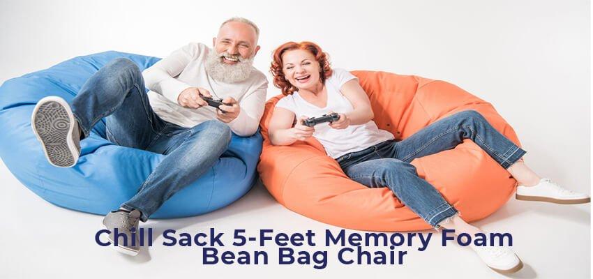 Chill Sack 5 Feet Memory Foam Bean Bag Chair