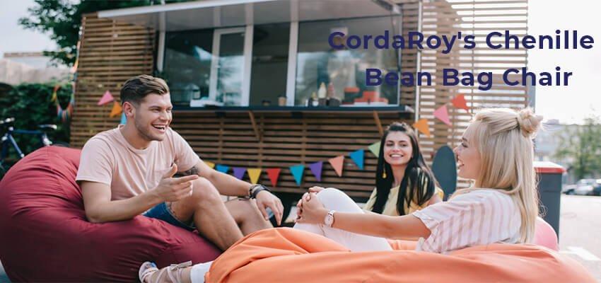 CordaRoys Chenille Bean Bag Chair