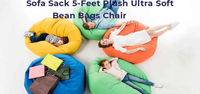 Sofa Sack 5-Feet Plush Ultra Soft Bean Bags Chair