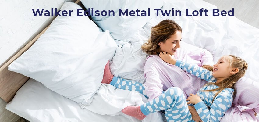 Walker Edison Metal Twin Loft Bed