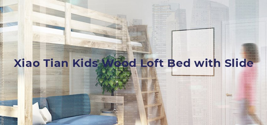 Xiao Tian Kids Wood Loft Bed with Slide 1