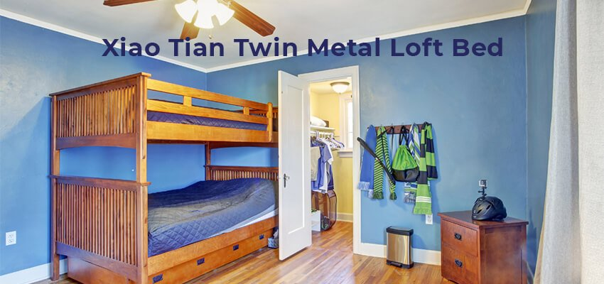 Xiao Tian Twin Metal Loft Bed