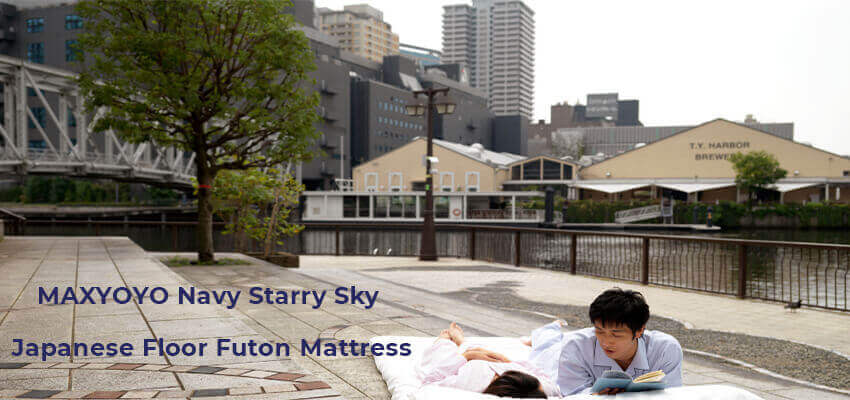 MAXYOYO Navy Starry Sky Japanese Floor Futon Mattress