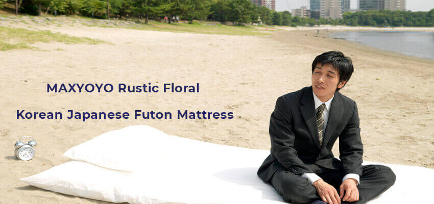 MAXYOYO Rustic Floral Korean Japanese Futon Mattress